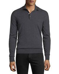 Tom Ford - Men's Long-sleeve Merino Wool Polo Shirt - Lyst