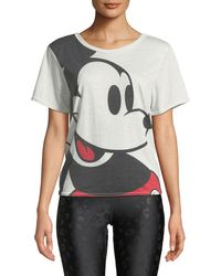 Terez - Larger Than Life Mickey Mouse® Cross-back Tee - Lyst