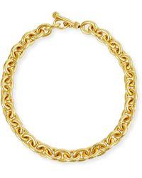 Elizabeth Locke - Heavy Oval Link Necklace - Lyst
