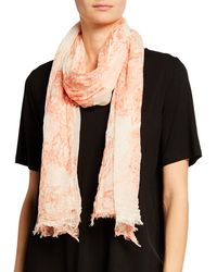 Eileen Fisher - Watercolor Cotton Gauze Scarf - Lyst
