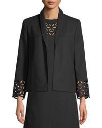 ESCADA - Open-front Broderie-anglaise Cotton Jacket - Lyst