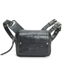 Frye Gia Small Leather Belt Bag - Black