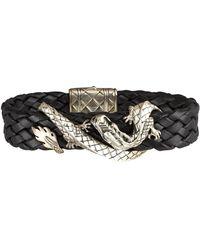 John Hardy - Woven Leather Dragon Bracelet - Lyst