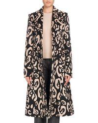 Altuzarra - Leopard-print Button-down Wool Coat - Lyst