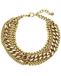 Ben-Amun Multilayer Chain Necklace - Metallic