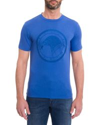 Stefano Ricci Men's Tonal Graphic T-shirt - Blue