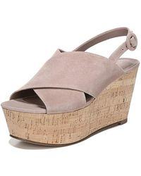 Diane von Furstenberg Juno Wedge Sandals - Natural