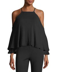 Rachel Pally - Marvin Luxe Rib-knit Cold-shoulder Top - Lyst