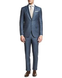 Ermenegildo Zegna - Plaid Wool Two-piece Suit - Lyst