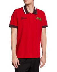 bcbc9ec546 KENZO 'jumping Tiger' Slim Fit Polo Shirt in Blue for Men - Lyst