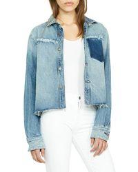 03567e2725de Hudson Jeans Signature Jean Jacket in Black - Lyst