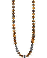 Tateossian Men's The Formentera Tiger Eye Necklace - Metallic