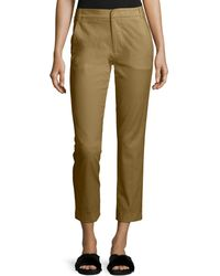 Vince - Coin-pocket Straight-leg Cropped Chino Pants - Lyst