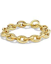 David Yurman Large Oval Link Chain Bracelet - Metallic