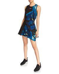 Nike X Maria Sharapova Printed Court Sleeveless Cutout Tennis Dress - Blue