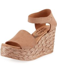 Pedro Garcia - Dory Suede Low-wedge Espadrille Sandals - Lyst