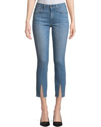 AO.LA by alice + olivia - Good Mid-rise Straight-leg Ankle Jeans W/ Front Slit - Lyst