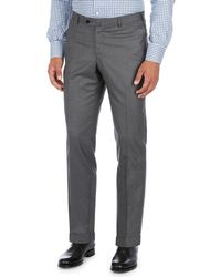 Isaia - Extralight Saxony Flat-front Trousers - Lyst