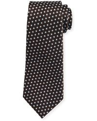 Ermenegildo Zegna - Textured Rib-ground Silk Tie - Lyst