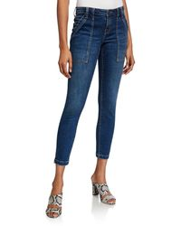Joie Park Cropped Skinny Jeans - Blue