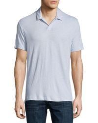 Theory - Palm Jersey Polo Shirt - Lyst