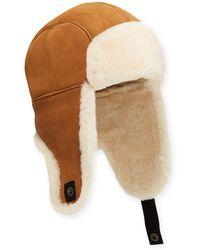 f18c24286d5 UGG - Men s Shearling-lined Sheepskin Trapper Hat - Lyst