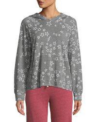 Sundry - Cropped Star-print Pullover Hoodie - Lyst