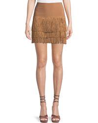 Norma Kamali - Jersey Shorts W/ Fringe Layers - Lyst