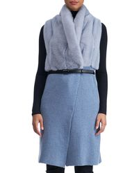Gorski | Belted Long Cashmere Vest With Mink Fur | Lyst