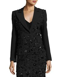 Michael Kors - Sequined-floral Dinner Jacket Black - Lyst