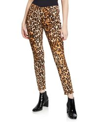 7 For All Mankind Ankle Skinny Mid-rise Leopard-print Jeans - Multicolour