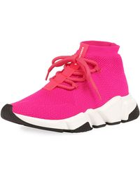 Balenciaga - Speed Lace-up Knit Trainer - Lyst