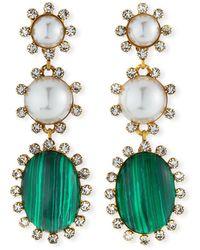 Elizabeth Cole Priscilla Dangle Earrings - Green