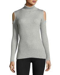 Sweet Romeo | Cold-shoulder Turtleneck Sweater | Lyst