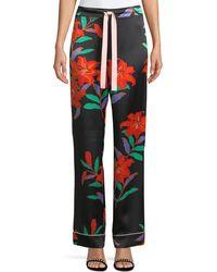 Diane von Furstenberg - Wide-leg Silk Pajama Pants - Lyst