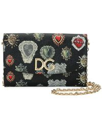 Dolce & Gabbana - Dauphine Sacred Hearts Stampata Wallet On A Chain - Lyst