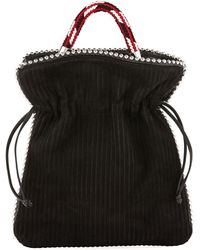 Les Petits Joueurs - Trilly Big Suede Drawstring Pouch Bag - Lyst