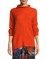 Fuzzi - Ribbed Wool Turtleneck Sweater - Lyst