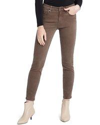 NIC+ZOE Nic Skinny Ankle Jeans - Brown