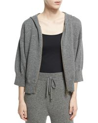 Agnona - Cashmere-wool Cropped Zip-front Hoodie - Lyst