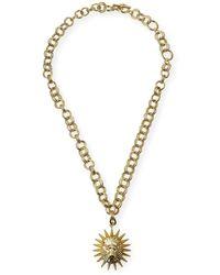 Kendra Scott Large Lion-link Pendant Necklace - Metallic