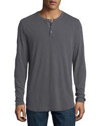 Theory - Nebulous Long-sleeve Henley T-shirt - Lyst