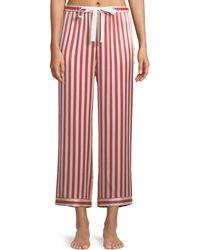 Morgan Lane - Americana Chantal Striped Silk Pajama Pants - Lyst