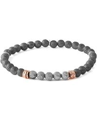 Tateossian - Men's Two-tone Mesh Bead Bracelet Size L - Lyst