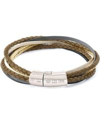 Tateossian - Men's Multi-strand Leather Cobra Bracelet - Lyst
