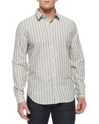 7 For All Mankind - Men's Striped Long-sleeve Sport Shirt - Lyst