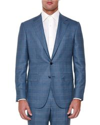 Stefano Ricci - Windowpane Two-piece Wool Suit - Lyst
