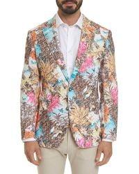 Robert Graham Men's Caivano Floral-pattern Two-button Jacket - Multicolor