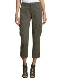 Joie | Cargo Pants W/ Embellished Side Stripe | Lyst