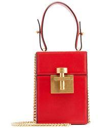Oscar de la Renta - Alibi Box Leather/suede Top-handle Bag - Lyst